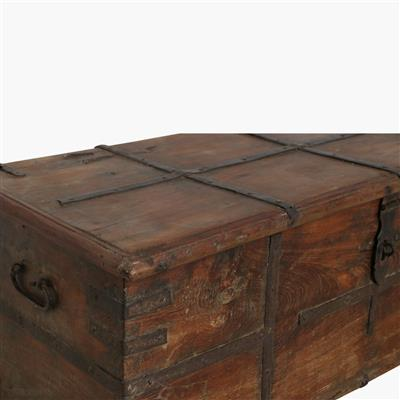 South Indian rosewood chest + brass
