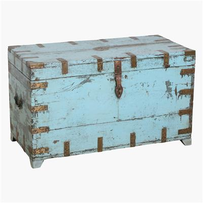 Light blue teak quality chest