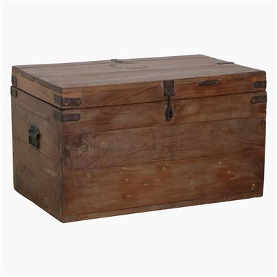 Teak XL iron hardware chest