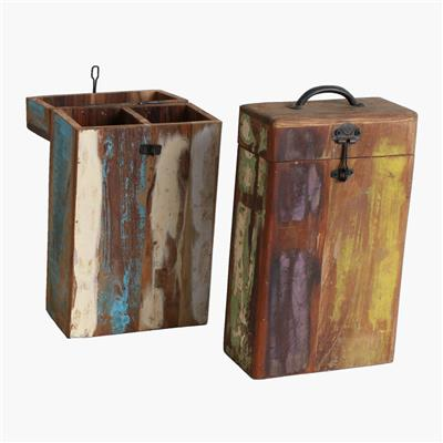 Scrapwood wine box 2-bottle