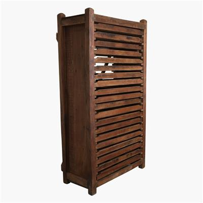 Tall teak 20 drawer printing press cabinet