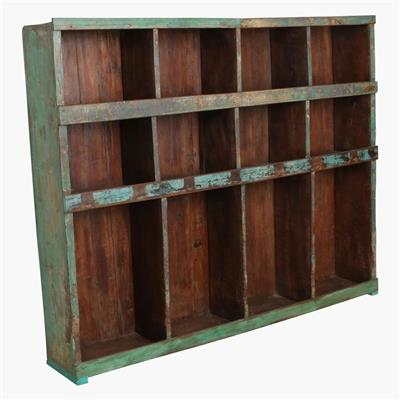 Green 12 compartment open rack