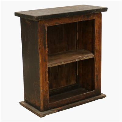 Small black open cabinet