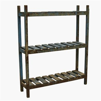 Light blue rack 6 shelves
