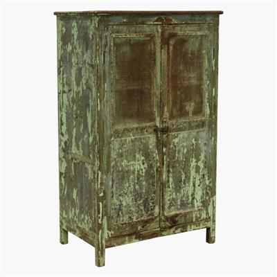 Grey & green 2 door original jali cabinet
