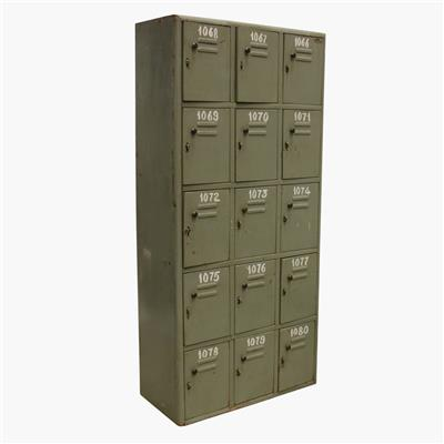 Grey 15 locker cabinet + numbers