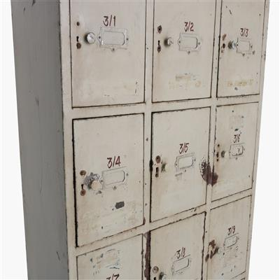 Taupe ijzeren 15-locker