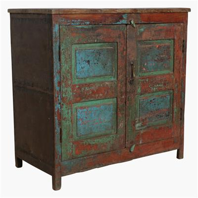 Mixed coloured sideboard + metal sides