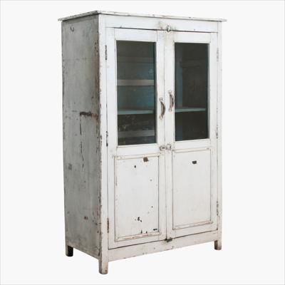 White cabinet 2-door + glass