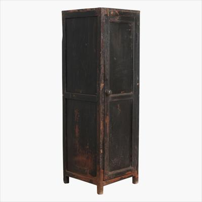 Black 1-door tall cabinet