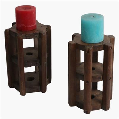 Thread roller candle stand large