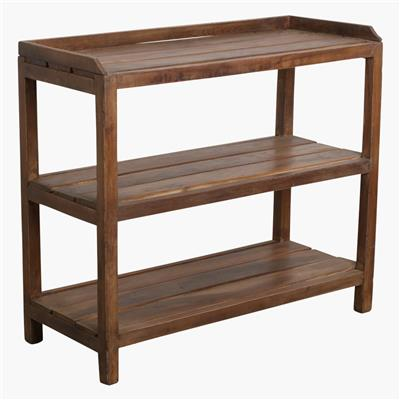 Teak shoe rack + top