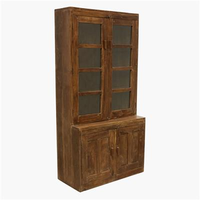 Hutch cabinet 2 closed / 2 glass door