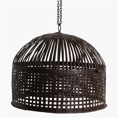 Iron basket lamp medium