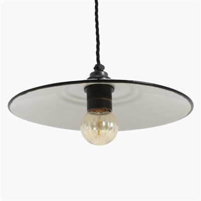 Nostalgia Lights European Enamel Shade, black