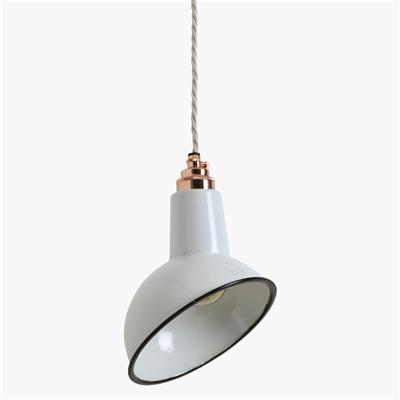 Nostalgia Lights small angled cloche lamp, white
