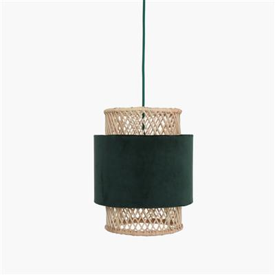 Suave lamp cylinder small green