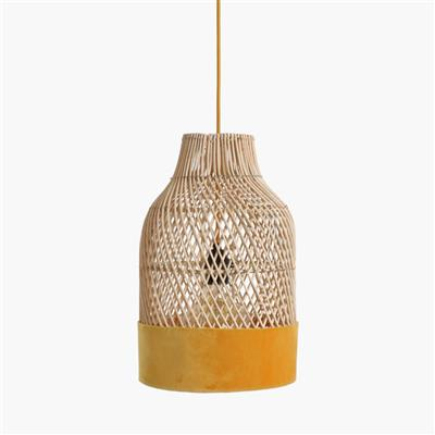 Suave lamp bottle yellow