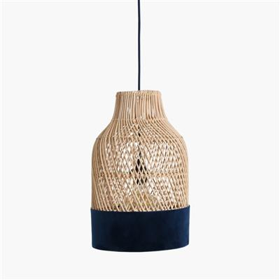 Suave lamp bottle blue