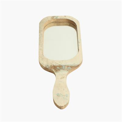 Scrapwood hand mirror rectangular
