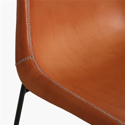 Sol Y Luna bar chair iron & natural leather