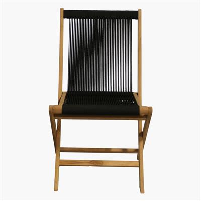 Rope folding chair black