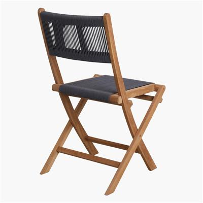 Rope folding bistro chair anthracite