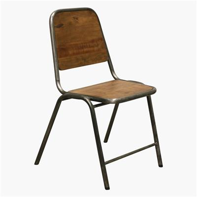 Factory / iron dining chair slim