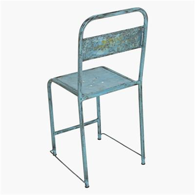 Java iron chair light-blue