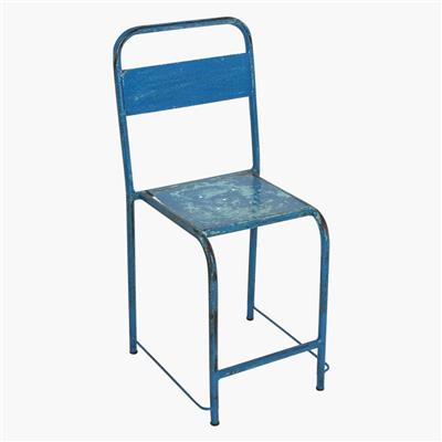 Java iron chair blue