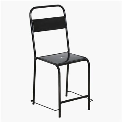 Java iron chair black metal