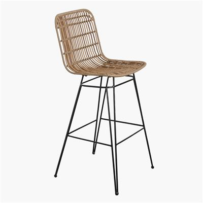 Jane outdoor bar chair natural