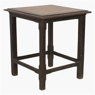 Teak square sidetable