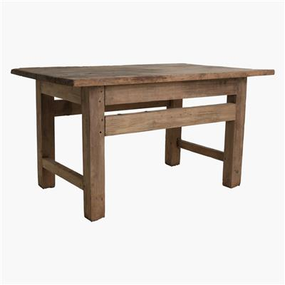 Old natural wooden factory table