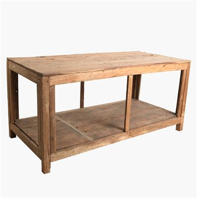 Teak factory table