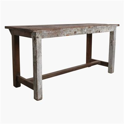 Teak old factory table