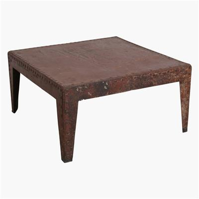 Ribbeb iron watertank coffee table