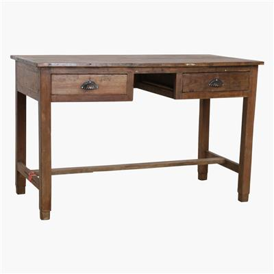 Teak 2 drawer desk