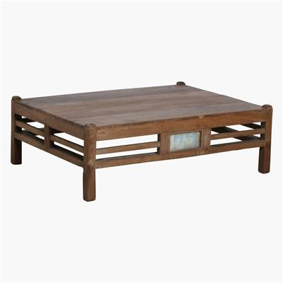 Teak low coffee table