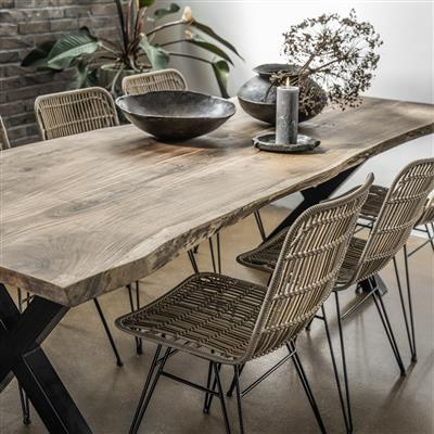 Acaciawood curved table top 160 cm