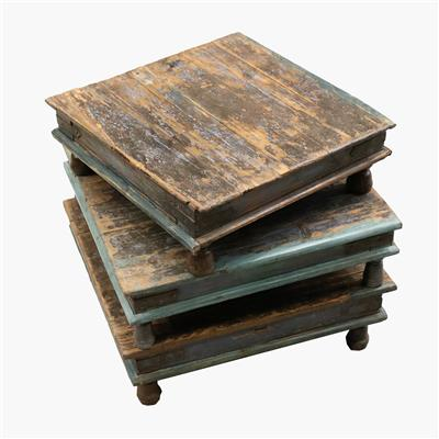 Pata low coffeetable blue/green