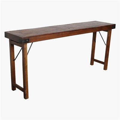 Console table brown
