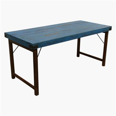 Dining table folding blue