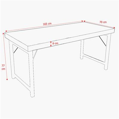 Dining table folding white