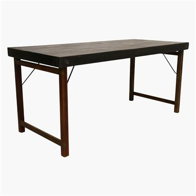 Dining table folding black