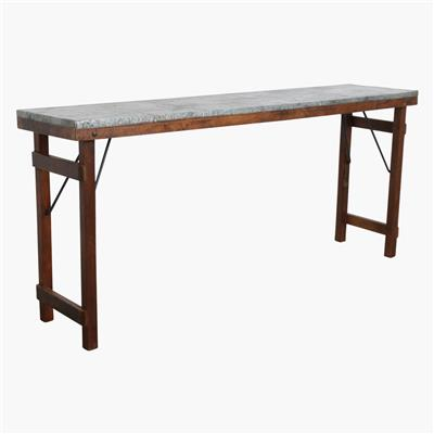 Console table zinc top