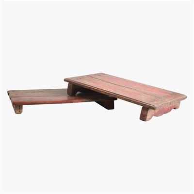 Low table/shelf medium, red colour