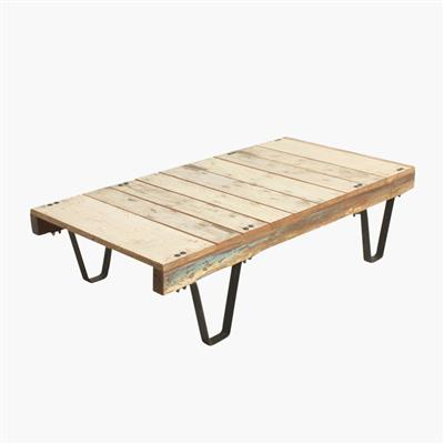 Scrapwood pallet cart table white